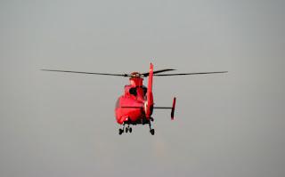Elicopterul SMURD-ului cobora din creasta