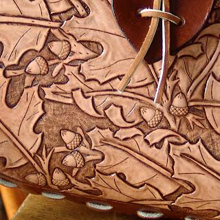 Dave s leatherwork oak leaves horse purse the kelly