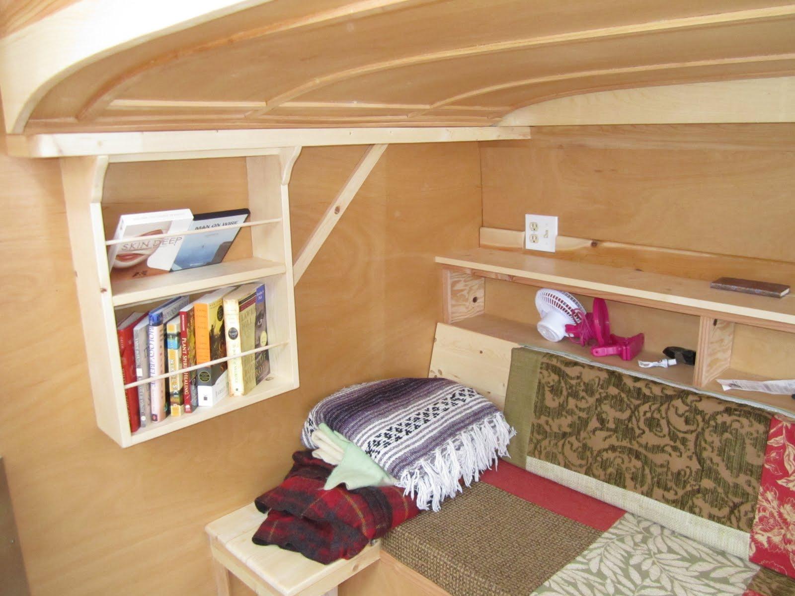 Tiny home teardrop trailer more interior photos for Teardrop camper interior ideas