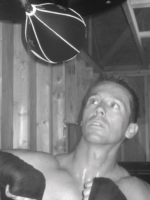 working the speed bag