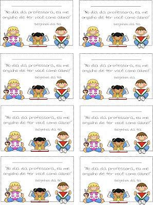 professores Lembrancinha do dia do Professor! para crianças
