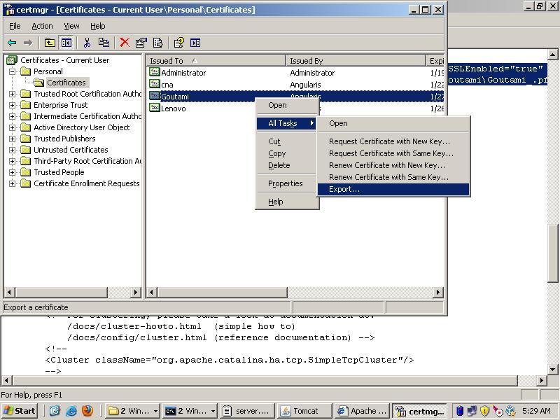 Goutamis Blog Create Ssl Webpage In Tomcat 6x