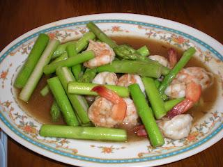 asparagus goreng wit udang