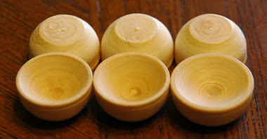 Miniature Wooden Bowls $2.99 for Full set of 6