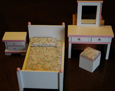 Miniature Child Bedroom Set $29.99 (All Drawers Open!)