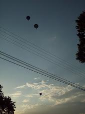 Os balões no céu de São Carlos