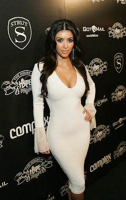 Kardashian Dresses  Sale on Kim Kardashian White Dress Bad Jpg