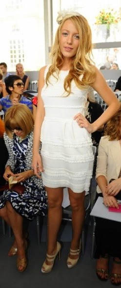 blake lively dior. Her white Dior peep-toes are