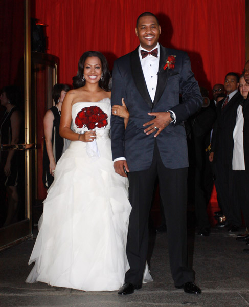 Carmelo Anthony Dressed Up. Lala Vasquez and Carmelo