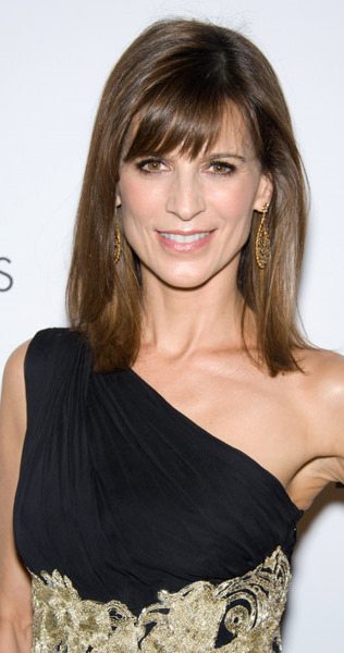 Perrey Reeves Looks Wonderful In Her Black And Gold Embroidered