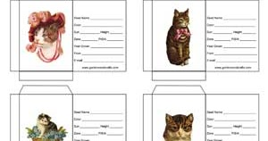 Gardens and Crafts Blog: New Seed Packet Templates