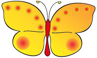 animal yellow butterfly Era uma vez... para crianças
