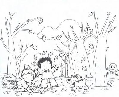 15167821 Outono para pintar... para crianças