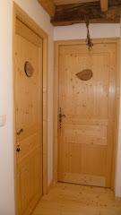 L'accès aux deux chambres, mélèzes & merisiers