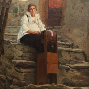 G. Giani-Aracne rustica, 1897 olio su tela