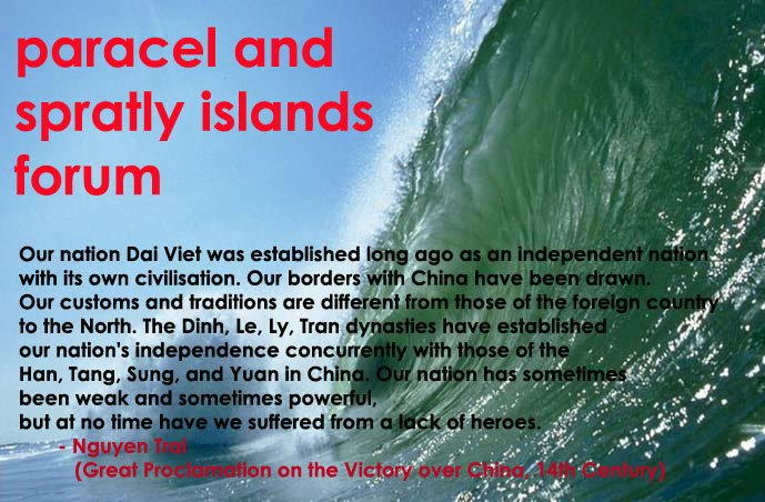 Paracel and Spratly Islands Forum