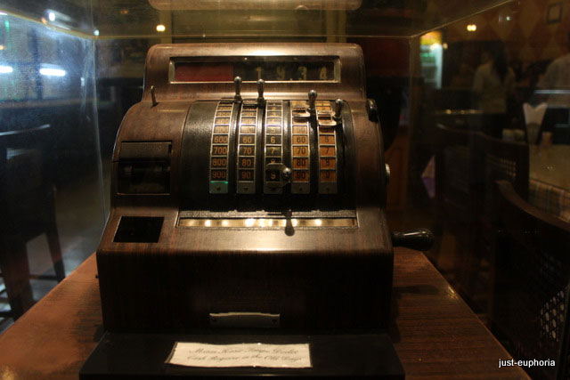 old cash register machine