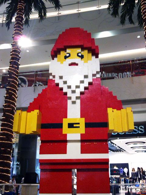 giant santa lego