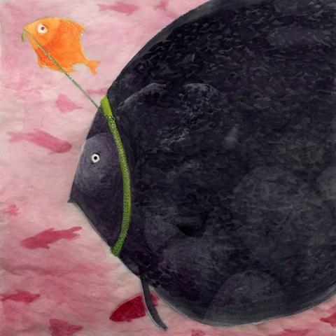 Brianne farley illustration fish on a leash for Fish on a leash