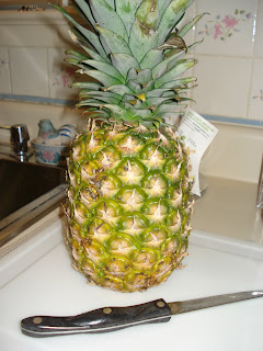 Pineapple ready to cut