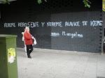Pintada realizada en la Avenida Monte Igueldo de Madrid por Batania (neorrabioso)