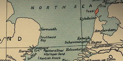 north sea map texel