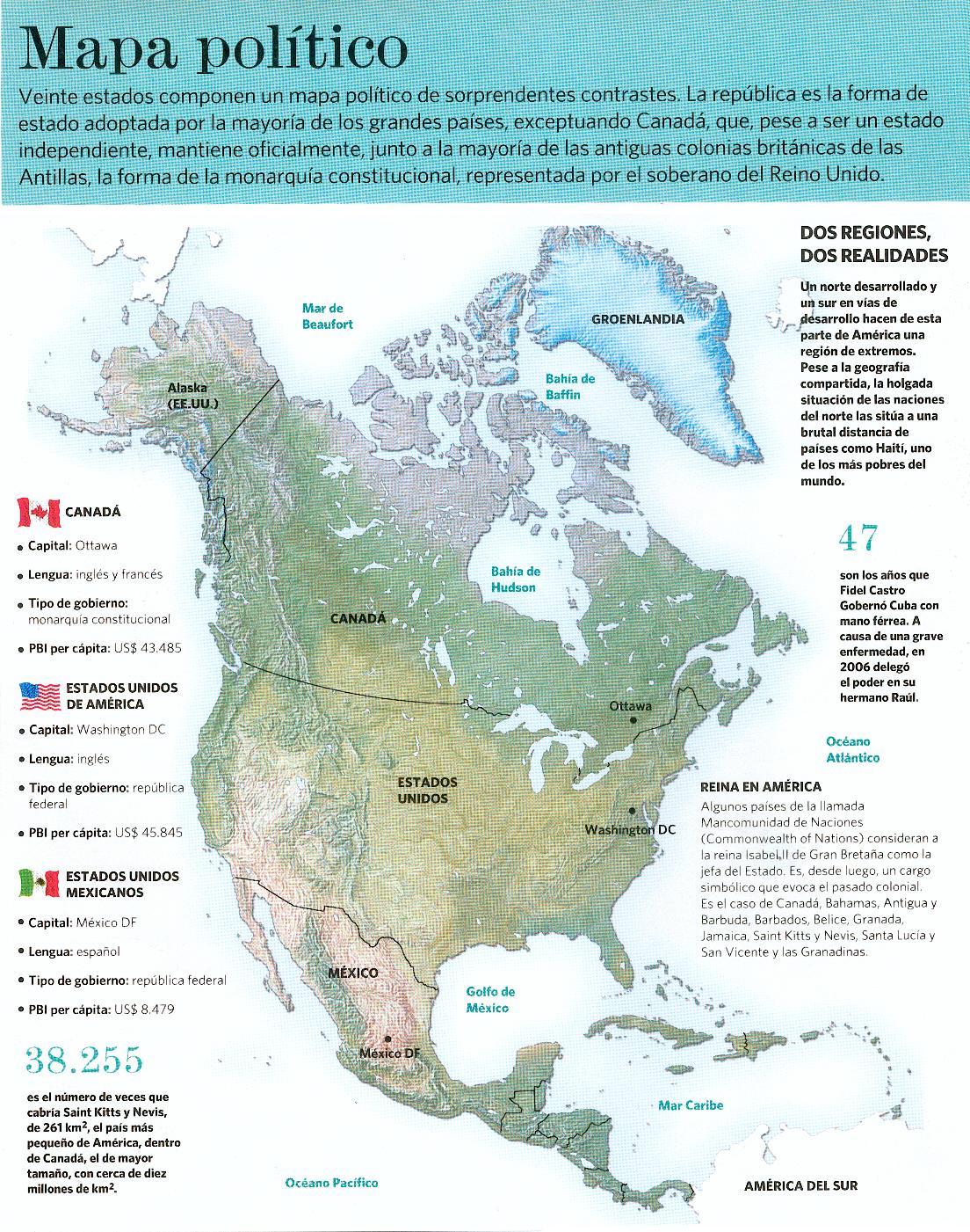 Aula Virtual de Ciencias Sociales Mapa Poltico de Amrica del Norte