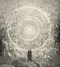 Dante y Beatriz a la entrada del Empíreo
