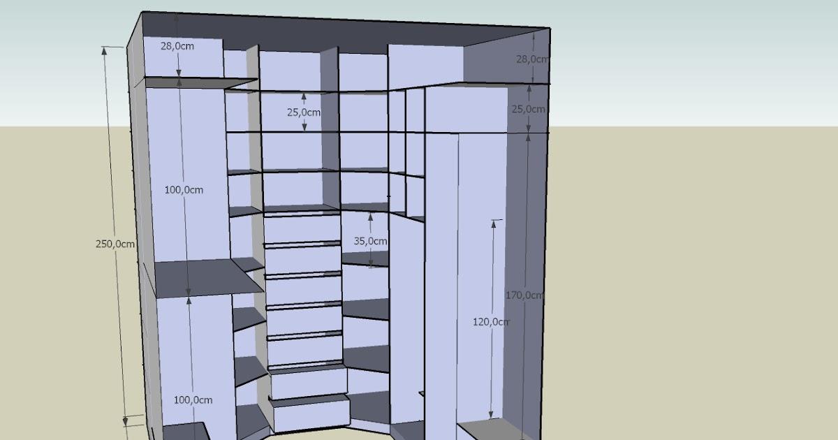 realisation gratuite plan de dressing en 3d a faire soi meme. Black Bedroom Furniture Sets. Home Design Ideas