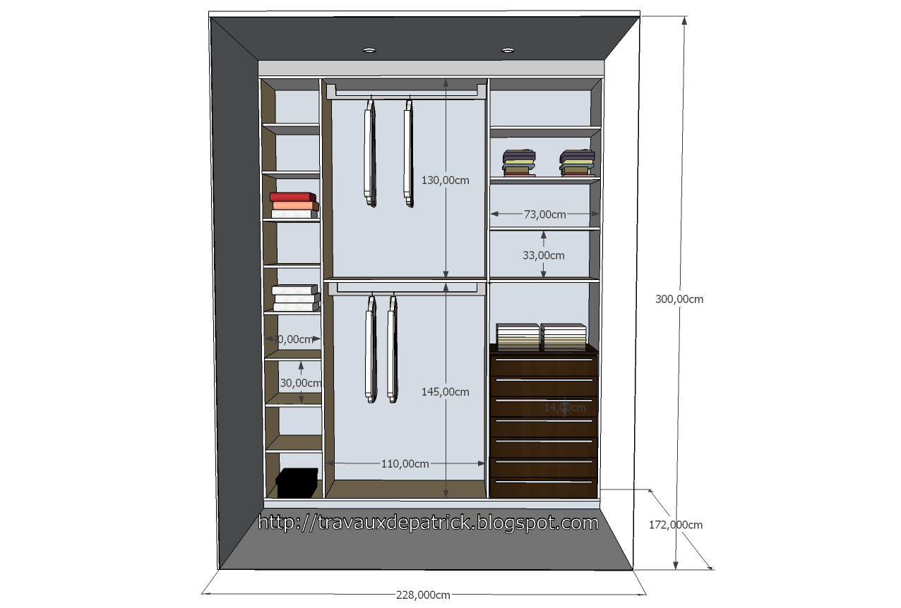 Plan dressing google sketchup - Plan chambre dressing ...