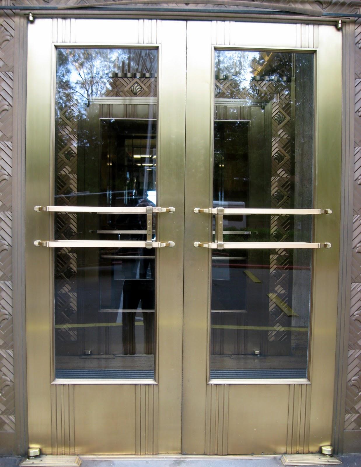 Bronze Door Restoration -  Art Deco  & HEAVY METAL WORKS: Bronze Door Restoration -