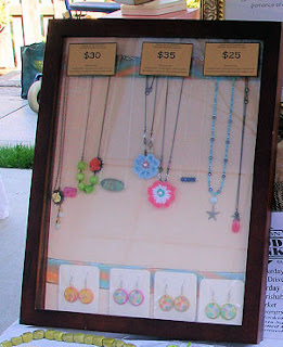 glass case for jewelry at craft show booth