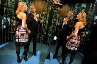 Cate Blanchett and Granny Square Crochet Dress