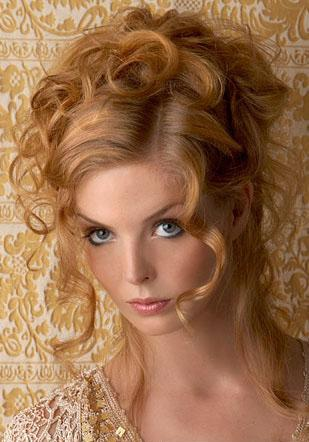 side curly hairstyles. curly side ponytail
