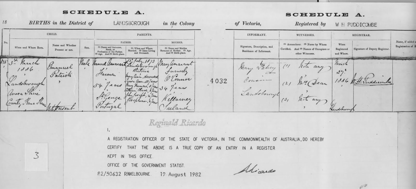 Amarant family history victorian birth certificate of pat amarant title victorian birth certificate of pat amarant location melbourne creator government of victoria description victorian birth certificate of mary aiddatafo Gallery