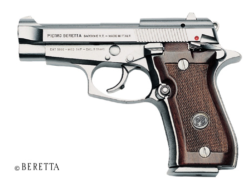 Beretta Cheetah Nickel 84FS