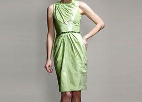 2014 exotic eye catching sweetheart neckline flower ruffle beads working tea length cocktail green wedding dress