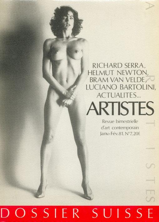 helmut newton - couverture de la revue artistes