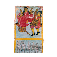 patua manasa scroll painting west bengal india