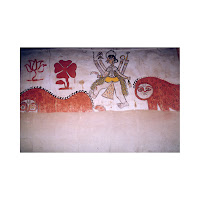 women wall painting mithila madhubani india