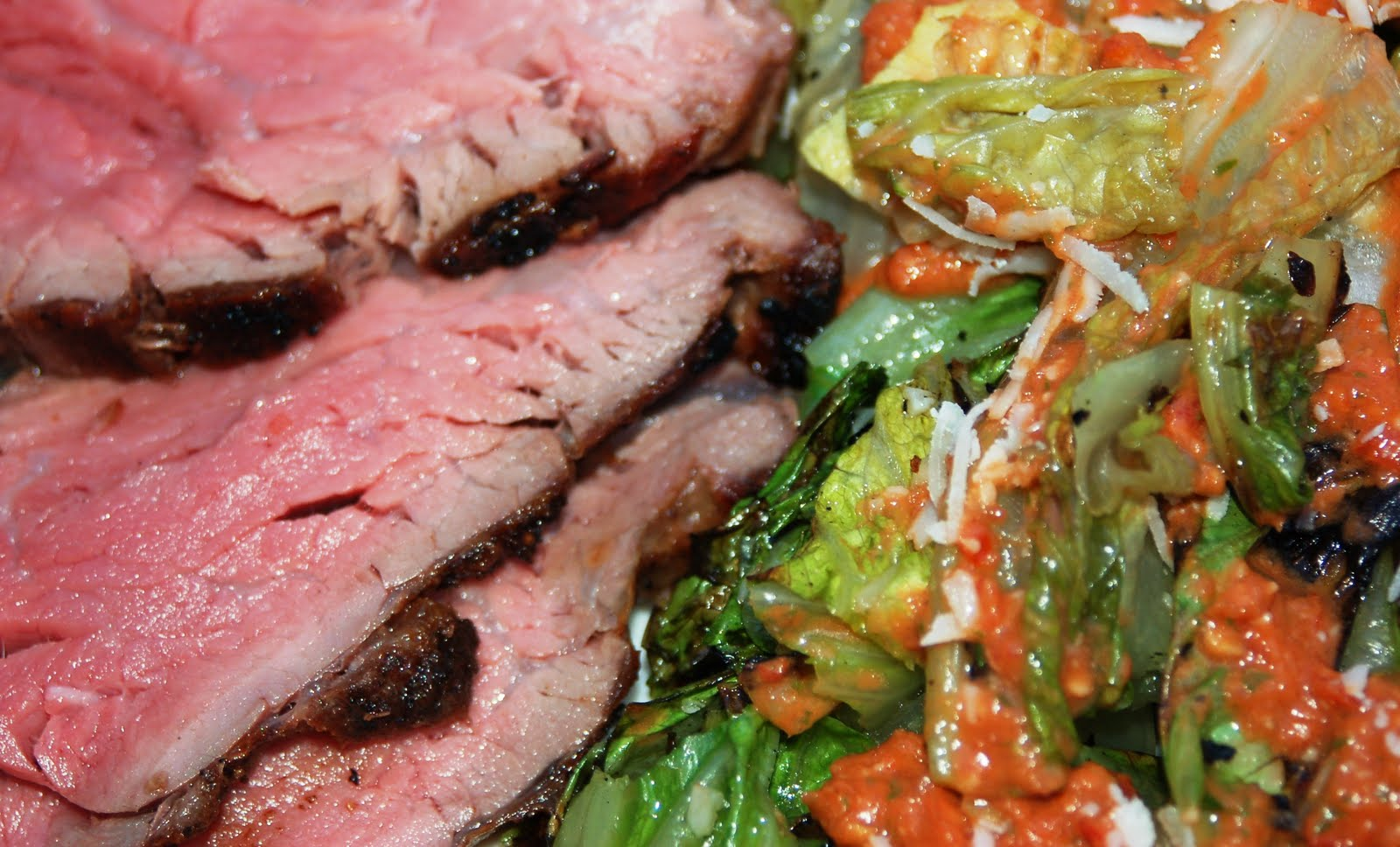 Grilled Beef Tenderloin & Escarole Recipe — Dishmaps
