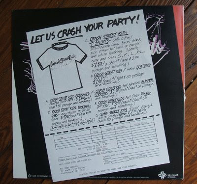 Crash Street Kids  Into you little girls flame records  1982 power pop us