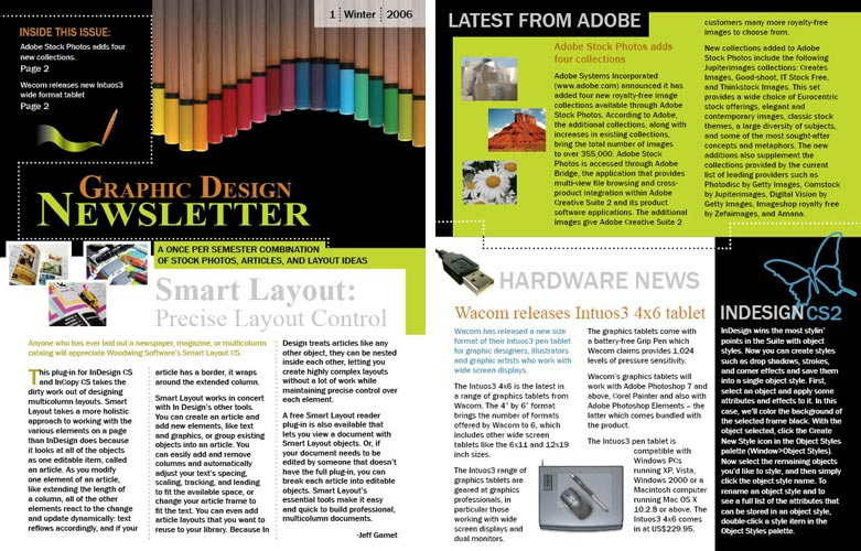 Yes Pen Me In How to Use Adobe CS5 to Create a Newsletter – Indesign Newsletter