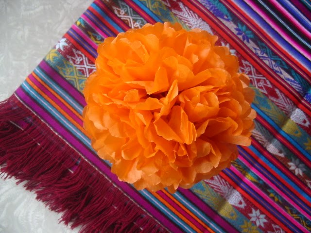 The hungry texan paper flowers paper flowers if you are preparing for dia de los muertos you may be looking for marigolds for your ofrenda marigolds or cempazuchitl welcome the dead mightylinksfo Choice Image