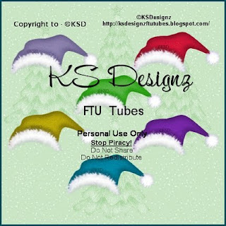 http://ksdesignzftutubes.blogspot.com/2009/12/freebie-coloured-elf-hats.html