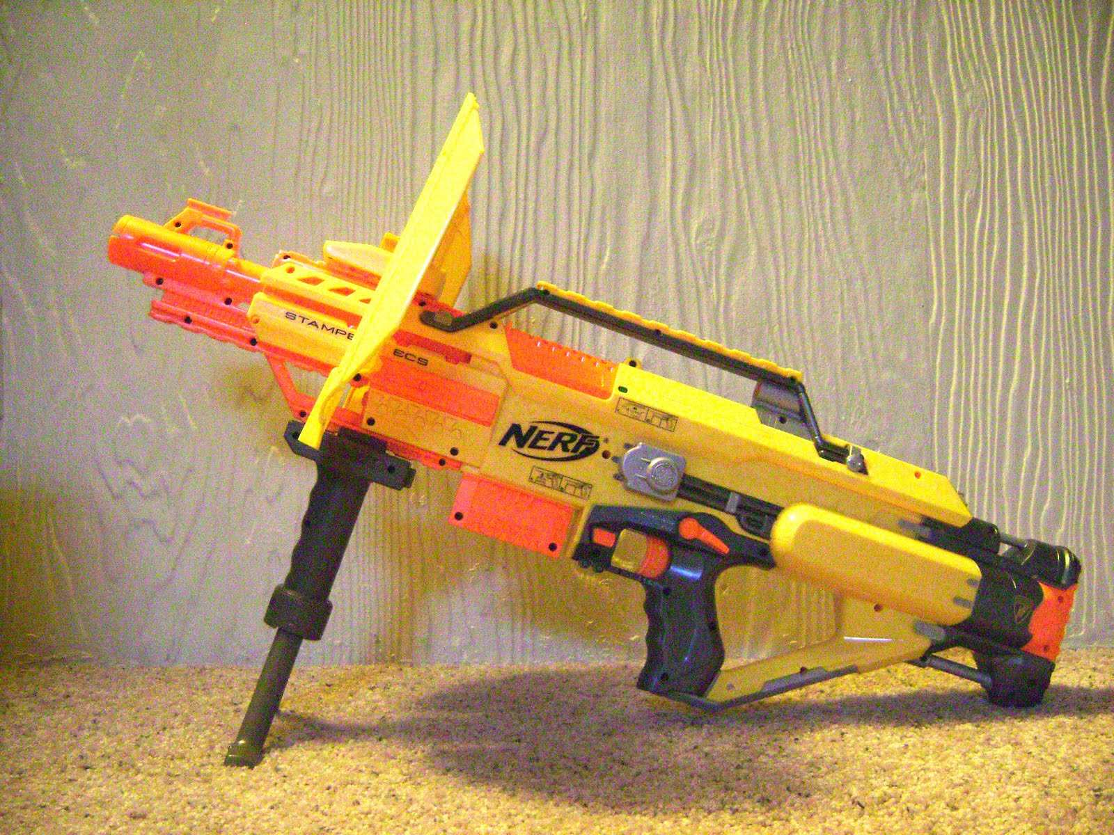 Nerf Stampede ECS with Blast shield and Bipod