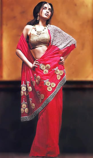 Party Wear Bridal Sarees, Dulhan Dresses Onlines for Indians
