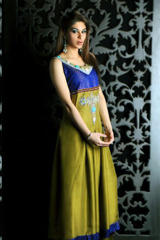 Casual Wear Anarkali Dresses, Long Anarkali Dress with Chudidaar Pyjama