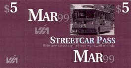 VIA Streetcar Ticket, San Antonio