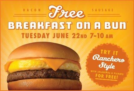 Whataburger Free Breakfast on a Bun 2010
